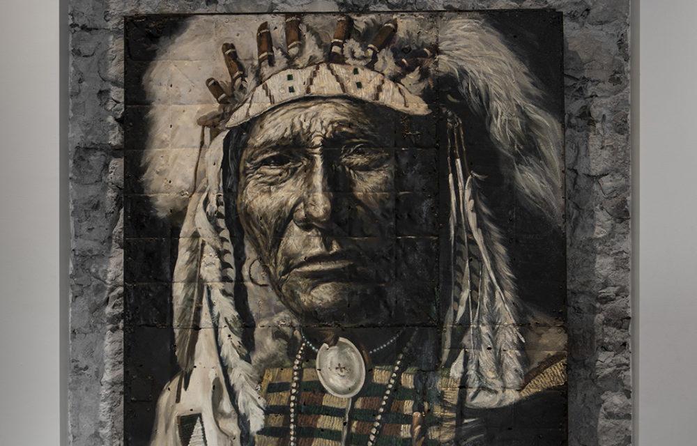 Peinture sur métal Sitting Bull