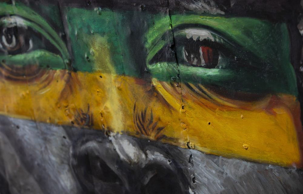 Peinture sur métal African Rasta