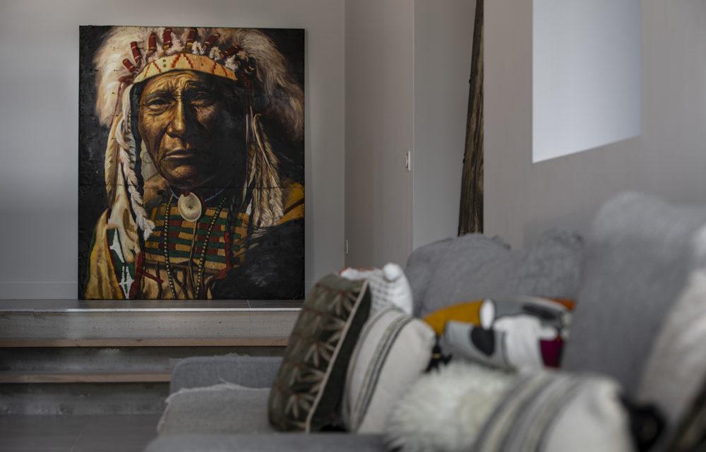 Peinture sur métal Sitting Bull couleur